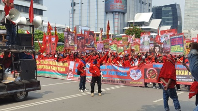 Labour Day protest in Jakarta.
